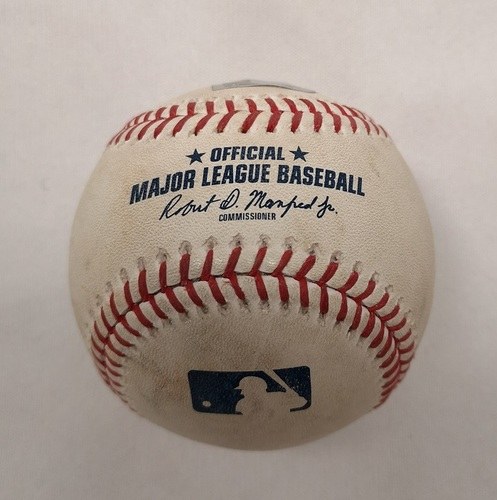Photo of Authenticated Player Collected Baseball - Home Run (5) by Kevin Pillar against C.C. Sabathia (June 5, 2018; Bottom 7).
