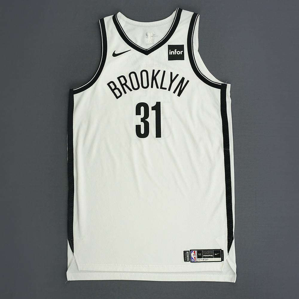 sale retailer fa163 105ef Jarrett Allen - Brooklyn Nets - Kia NBA Tip-Off 2018 - Game ...
