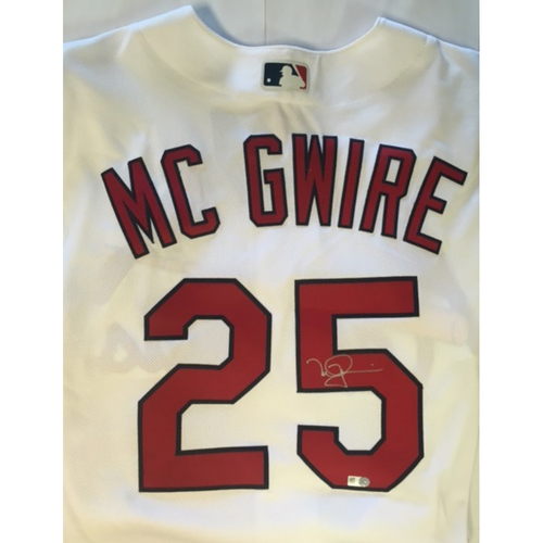 Photo of Mark McGwire Autographed Cardinals Authentic White Jersey