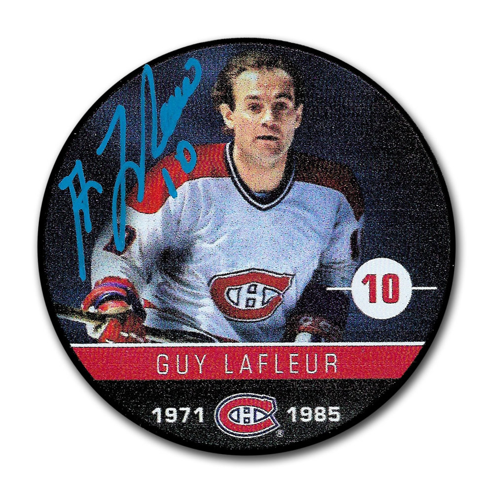 Guy Lafleur Autographed Montreal Canadiens Player Puck