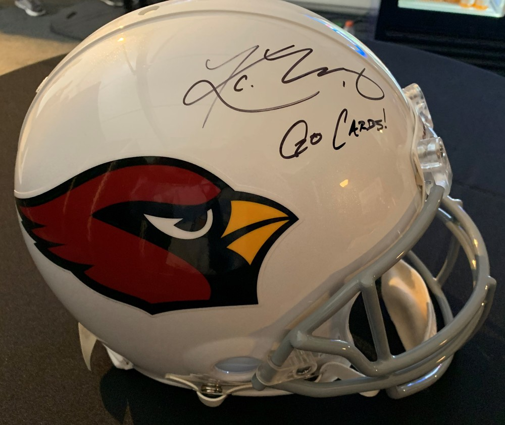 Disaster Relief - Cardinals Kyler Murray Signed Authentic Proline Helmet featuring 'Go Cards' Inscription: First official team autograph