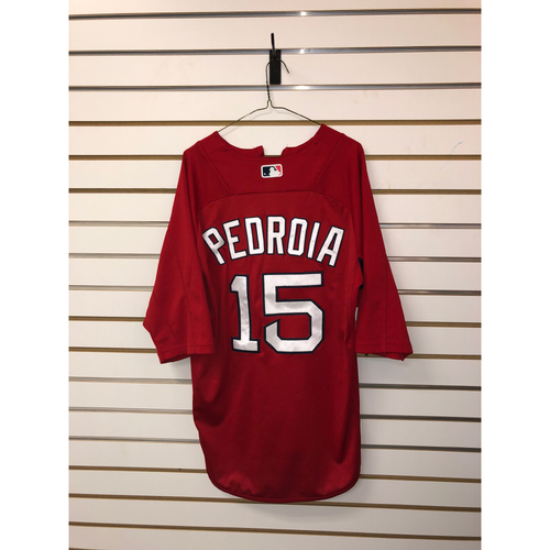Photo of Dustin Pedroia Team Issued Home Batting Practice Jersey