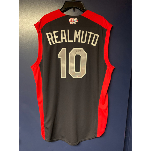 Photo of J.T. Realmuto 2019 Major League Baseball Workout Day Autographed Jersey