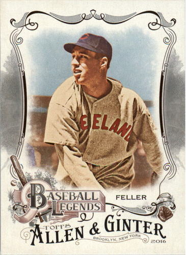 Photo of 2016 Topps Allen and Ginter Baseball Legends #BL16 Bob Feller