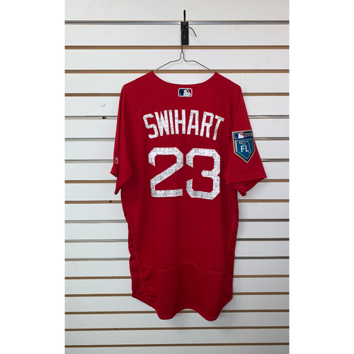 Photo of Blake Swihart Team Issued 2018 Spring Training Jersey