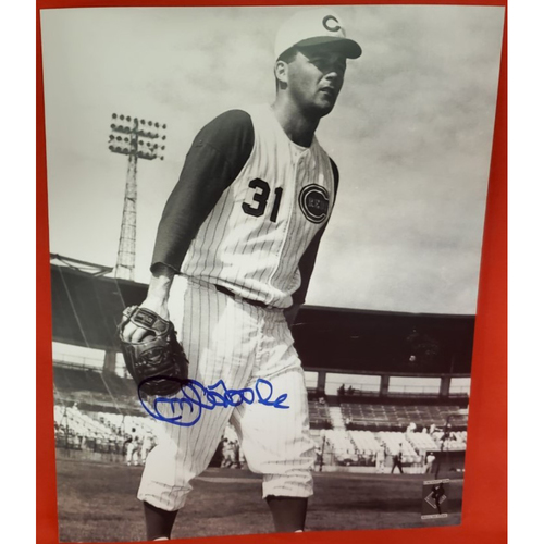 Jim O'Toole Autographed Photo (standing with glove)