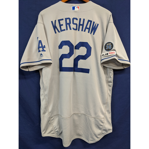 Photo of Clayton Kershaw Team Issued 2019 Road Jersey