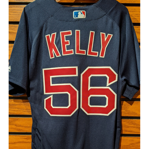 Photo of Joe Kelly #56 Team Issued Navy Road Alternate Jersey