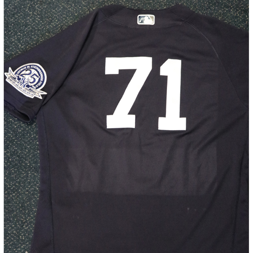 Photo of 2020 Team-Issued Spring Training Jersey - Thairo Estrada - #71 - Size 44