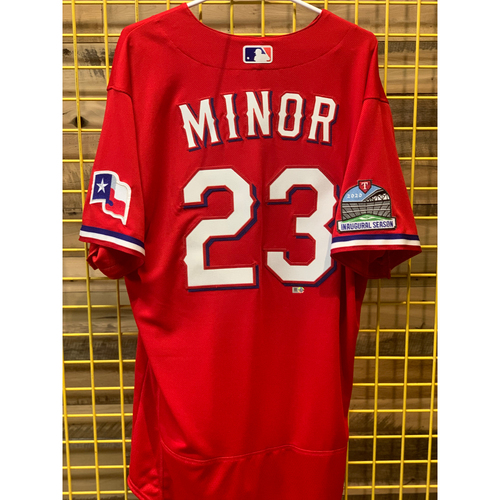 Photo of Mike Minor Team-Issued Red Jersey