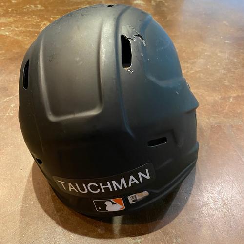 Photo of 2021 Team Issued Broken Batting Helmet - #29 Mike Tauchman - Size 7 5/8