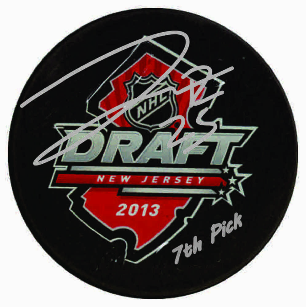 Darnell Nurse - Signed & Inscribed 2013 Draft Puck - Inscribed '