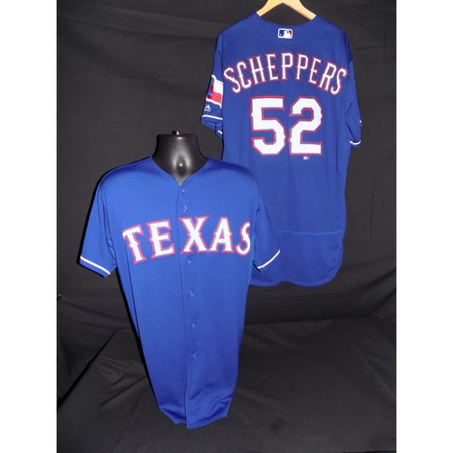 Photo of Tanner Scheppers Team-Issued Blue Jersey - Size 48
