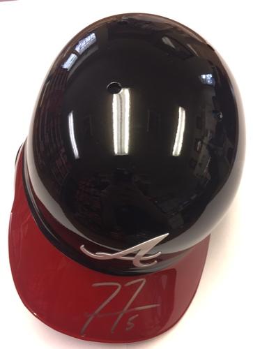 Photo of Freddie Freeman Autographed Braves Batting Helmet