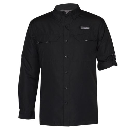 Photo of UMPS CARE AUCTION: Habit Men's Long Sleeve River Guide Shirt, Black, Size Large