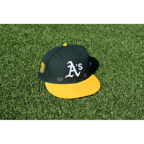 Photo of Oakland Athletics Game Used Philip Pohl 50th Anniversary Cap