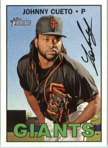 Photo of 2016 Topps Heritage #588A Johnny Cueto