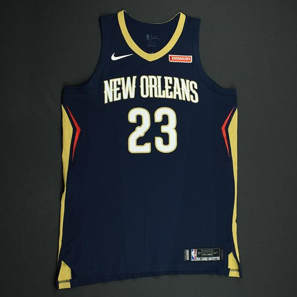 7f60747e2 Anthony Davis - Navy Regular Season - worn November 3