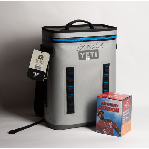 Photo of Anthony Rendon Autographed Yeti Cooler & Bobblehead (Not Autographed) - Winning Bidder Can Pick Up Items Directly From Anthony on September 24, 2018