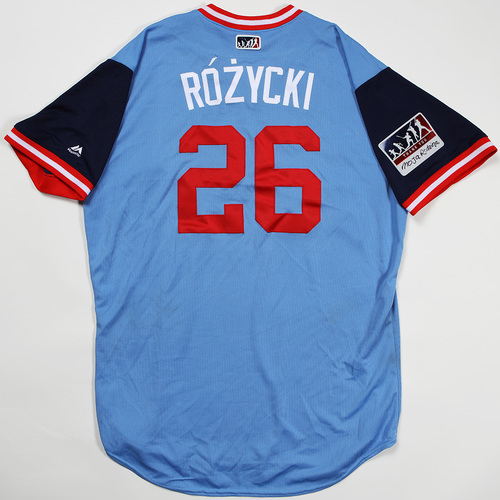 "Photo of Max ""Rozycki"" Kepler Minnesota Twins Game-Used Jersey 2018 Players' Weekend Jersey"