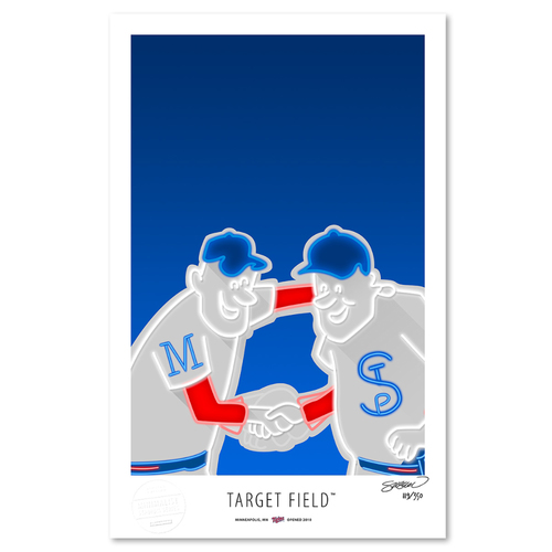 Photo of Target Field - Collector's Edition Minimalist Art Print by S. Preston #119/350  - Minnesota Twins