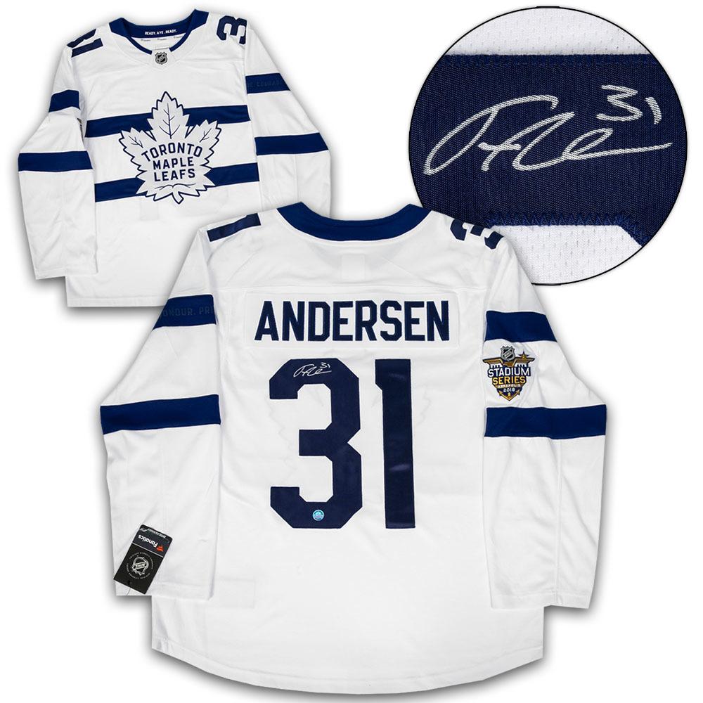 Frederik Andersen Toronto Maple Leafs Signed Stadium Series Fanatics Hockey Jersey