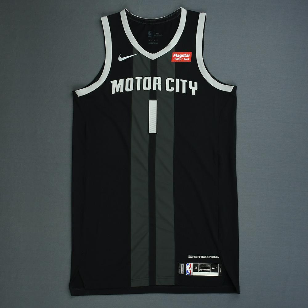 86c862e56 Reggie Jackson - Detroit Pistons - Game-Worn City Edition Jersey - 2018-19