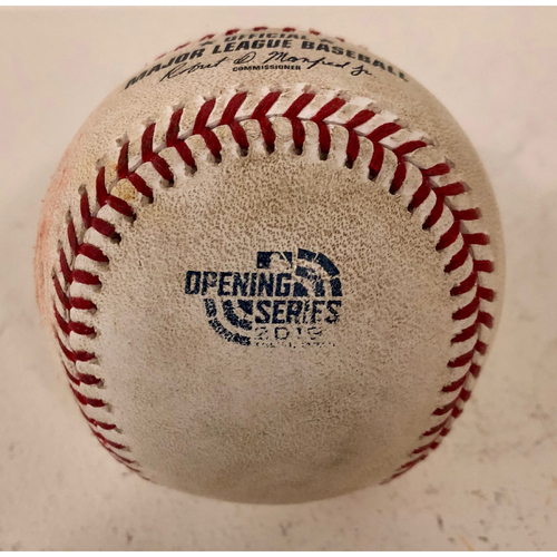 Photo of 2019 Japan Opening Day Series - Game Used Baseball - Batter: Dee Gordon Pitcher : Ryan Buchter - Single to CF - 3/21/19