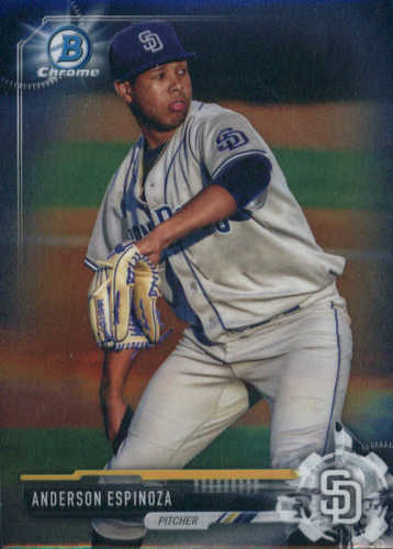 Photo of 2017 Bowman Chrome Prospects #BCP54 Anderson Espinoza