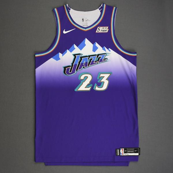 Image of Royce O'Neale - Utah Jazz - Game-Worn Classic Edition 1996-04 Road Jersey - 2019-20 Season