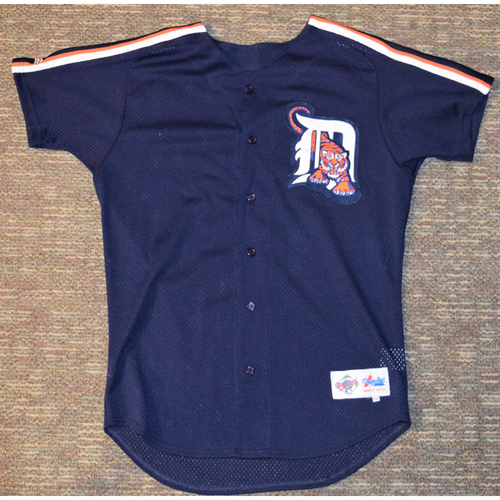 Photo of Detroit Tigers Blue Batting Practice Jersey (NOT MLB AUTHENTICATED)