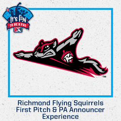 Photo of Richmond Flying Squirrels First Pitch & PA Announcer Experience