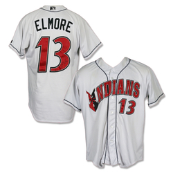 Photo of #13 Jake Elmore Autographed Game Worn Home White Jersey