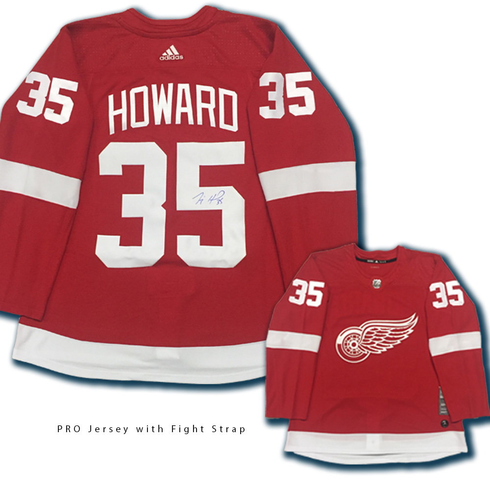JIMMY HOWARD Signed Detroit Red Wings Red Adidas Jersey