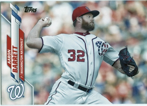 Photo of 2020 Topps #670 Aaron Barrett RC