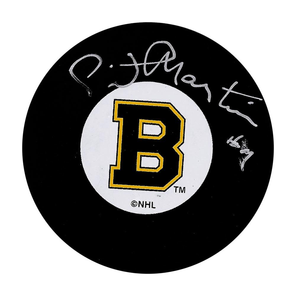Pit Martin Autographed Boston Bruins Puck