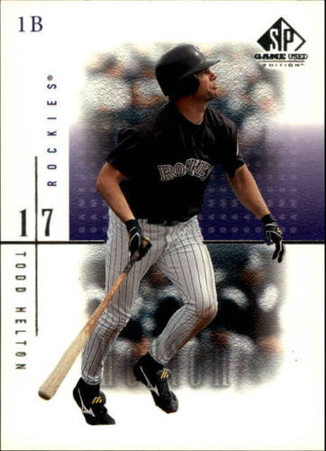 Photo of 2001 SP Game Used Edition #59 Todd Helton