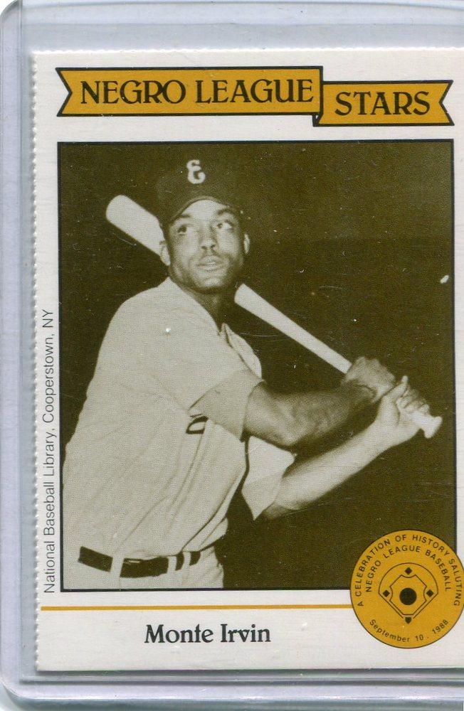 1988 Negro League Duquesne Light Co. #20 Monte Irvin