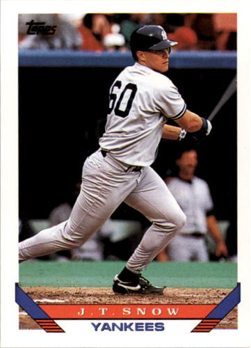 Photo of 1993 Topps #422 J.T. Snow RC