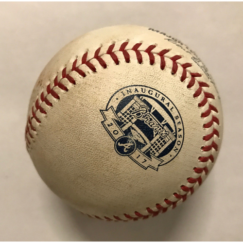 Jose Altuve Game-Used Hit Double Baseball - July 5, 2017