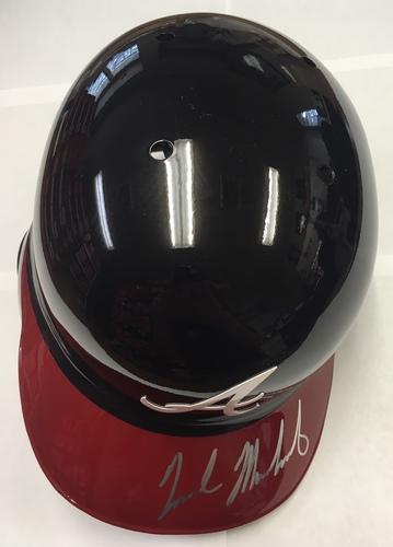 Photo of Nick Markakis Autographed Braves Batting Helmet