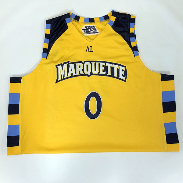 Photo of No. 0 Gold Marquette Jersey