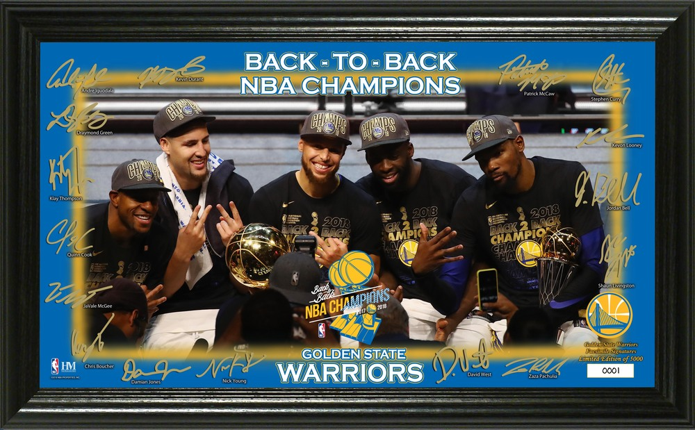 Serial #1! Golden State Warriors 2018 NBA Finals Champions Celebration Signature Court