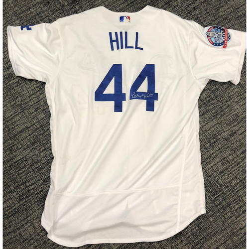 Photo of LA Dodgers Foundation Auction: Rich Hill 2018 Game-Used Autographed LA Dodger Jersey