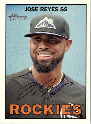 Photo of 2016 Topps Heritage #159 Jose Reyes