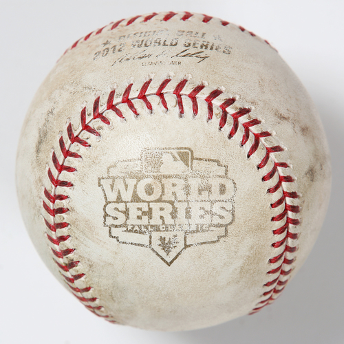 Photo of Game-Used Baseball: 2012 World Series Game 3 - San Francisco Giants at Detroit Tigers - Batter: Pablo Sandoval, Pitcher: Anibal Sanchez - Top of 3, Ground Out to 1st