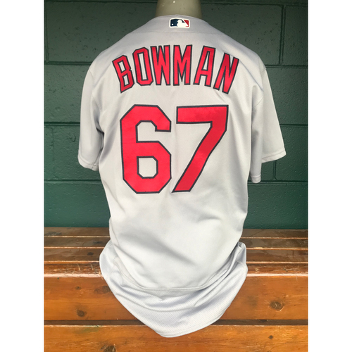 Photo of Cardinals Authentics: Matt Bowman Game Worn Road Grey Jersey