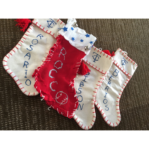 Photo of Twins Holiday Stockings