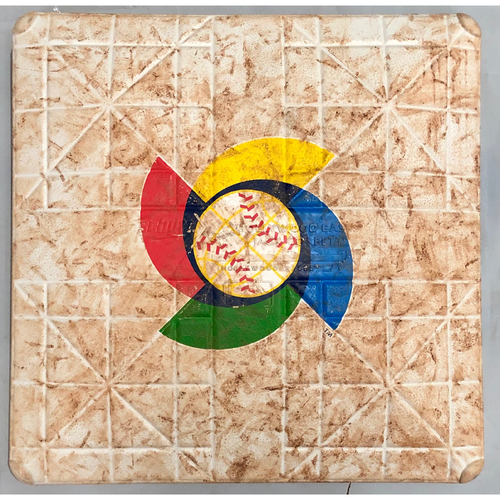 Photo of 2017 World Baseball Classic Game Used Base- 2nd Base (Canada at Dominican Republic)