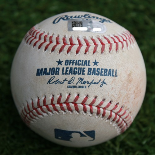 Photo of Game-Used Baseball: Tommy La Stella 236th Career Hit (LAA @ KC - 4/27/19)